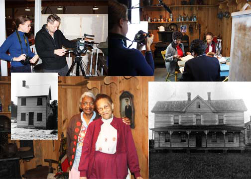"Collage of the Filming of ""Voices of the Indiantown"""