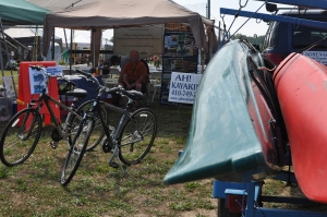Adrenaline High Outfitters--rent a bike or kayak for the hour or day.