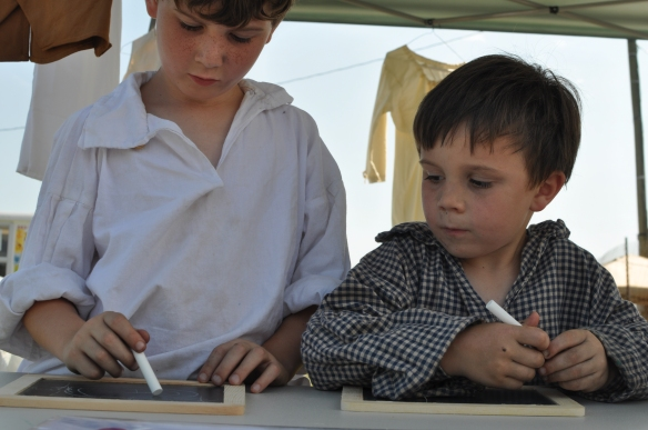 The Dunkleburger boys from Virginia enjoy the Childrens Tent at the 2012 Jamboree.