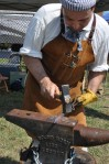 Jeff Dunkelburgher, Colonial Blacksmith of Virginia at the 2012 Jamboree