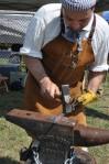 Jeff Dunkelburgher, Colonial Blacksmith of Virginia at the 2012 Jamboree