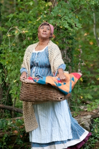 Kat Lindsay's portrayal of an American slave.