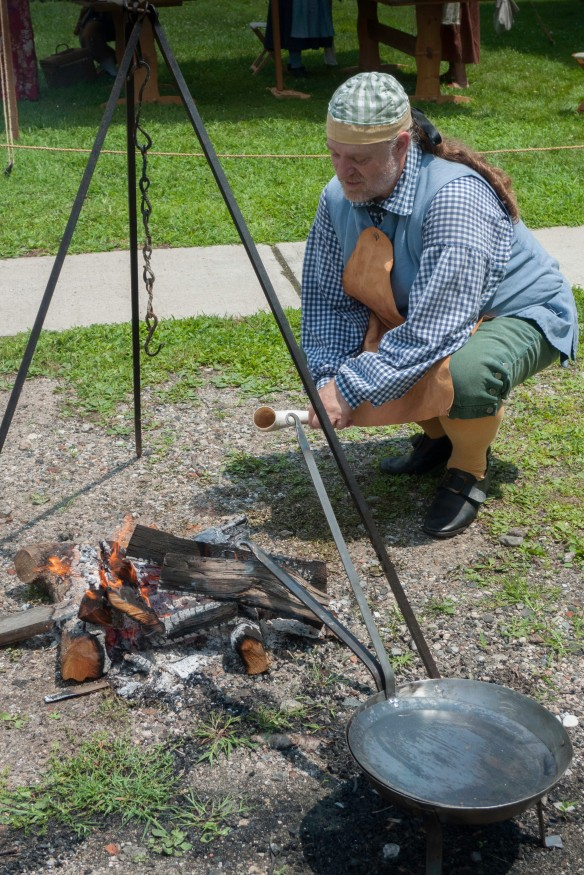 Paul Gasparo demonstrates over an open FIRE!