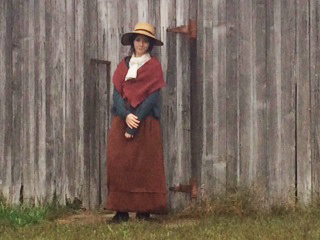 Sarah Wright, an 18th century living history interpreter!